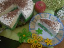 Torcik jabłkowo-miętowy z białą czekoladą