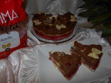 Torcik makaronowy z czekoladą i galaretką