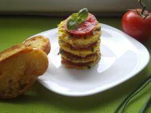 Torcik omletowy z grzankami