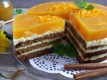 Torcik piernikowo-drożdżowy na pomarańczowo