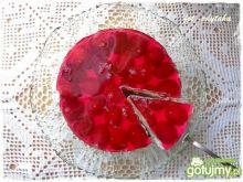 Torcik Rubinowy z winogronami