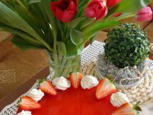 Torcik serowo-truskawkowy na zimno