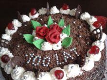 Torcik urodzinowy - czekoladowy