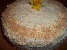 Torcik z kremem budyniowo - kokosowym