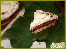 Torcik z masą truskawkowo-rabarbarową