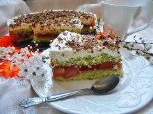 Torcik z mojito, owocami i czekoladą