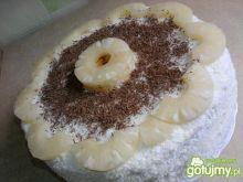 Tort ananasowo - kokosowy