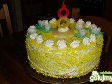 Tort ananasowo -kokosowy
