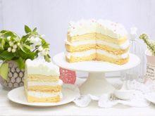 Tort biszkoptowo - kokosowy z cytrynową pianką