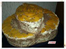 Tort brzoskwiniowy kapelusz