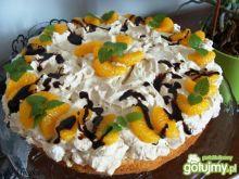 Tort cappucino z mandarynkami