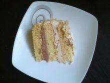 Tort chałwowo - czekoladowy