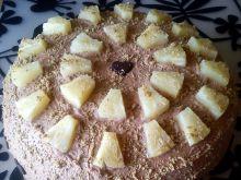 Tort chałwowy z ananasem