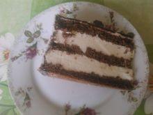 Tort czarno biały