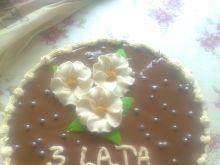 Tort czekoladowo chałwowy