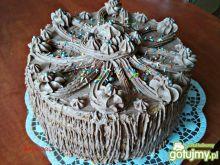 Tort czekoladowo jabłkowy