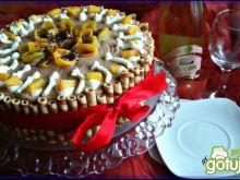 Tort czekoladowo karmelowy