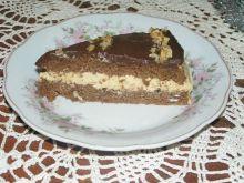 Tort czekoladowo-kawowo-orzechowy