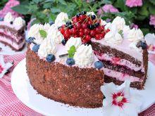 Tort czekoladowo porzeczkowy
