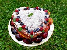 Tort czekoladowo - śliwkowy