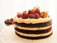 Tort czekoladowy z kremem z ricotty i mascarpone