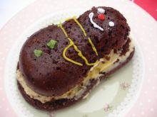 Tort czekoladowy z masą z kiwi i mango