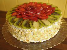 Tort dla Taty - serowy z czekoladą i owocami