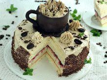 Tort filiżanka kawy