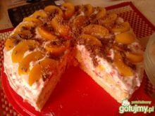Tort galaretkowy z brzoskwiniami