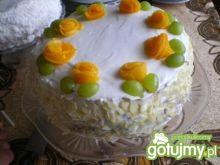 Tort imieninowo-urodzinowy z owocami