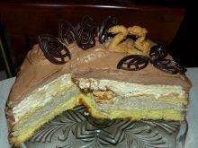 Tort Kawowo - Kokosowy z Musem Czekoladowym