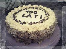 Tort kawowy trójkolorowy