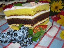 Tort  kolorowy warstwowy