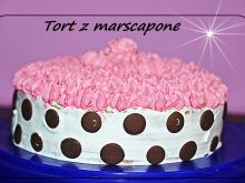 Tort  kolorowy z mascarpone