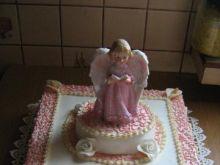 Tort komunijny z aniołem