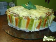 Tort makaronowy w trzech kolorach