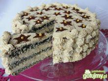 Tort makowo -kawowy
