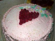 Tort malinowe serce