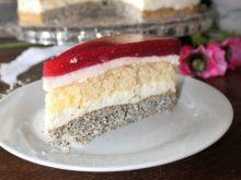 Tort malinowy cztery smaki