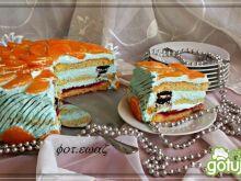 Tort mandarynkowo waniliowy