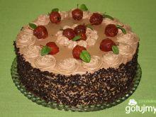 Tort miętowo-czekoladowy z jabłkami