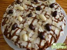 Tort migdałowo - kajmakowy