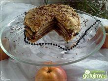 Tort naleśnikowy kawowo-serowy z dżemem
