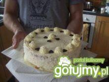 Tort o smaku kokosa