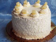 Tort pionowy z kremem śmietankowym i ananasem