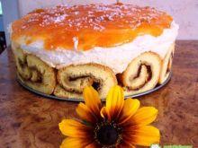 Tort roladowy z bananem