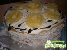 Tort śmietankowo-budyniowy z anansem