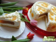 Tort śmietankowo jabłkowy