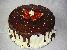 Tort śmietanowo- czekoladowy z figą