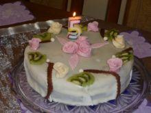 Tort śmietanowy kokosowo-czekoladowy